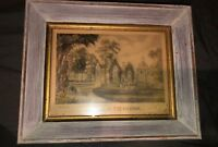 "Vintage Framed Print Currier & Ives ""Sunnyside On The Hudson"" 8-1/4"" X 10-1/4"""