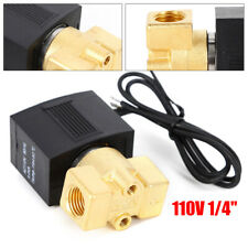 """1/4"""" Electric Solenoid Valve For Water Oil Air Gas Ac110V-120V 0-145 Psi"""