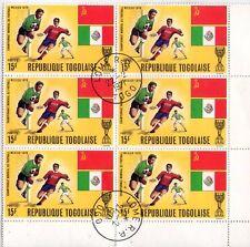 TOGO - BLOCCO DI 6 INTERESSANTI FRANCOBOLLI - MEXICO 1970