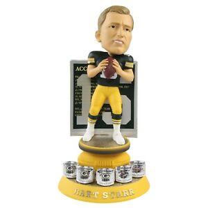 Bart Starr Green Bay Packers Career Accomplishments Bobblehead NFL