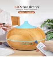 Diffuseur Huile Essentielle Humidificateur Aromathérapie LED 7 couleurs 0,5 L