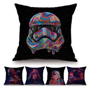Star Wars Colorful White Trooper DecorationWatercolor Jedi Solider Cushion Cover