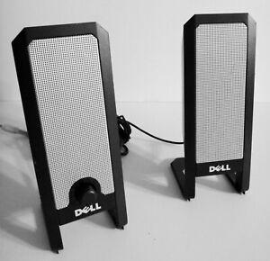 Dell A225 USB Powered Black Silver 25W Speaker Set Multimedia PC Laptop WORKING