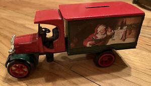Vintage 1993 ERTL Coca Cola DIE-CAST METAL BANK Santa Delivery Truck Kenworth