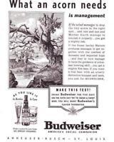 Vintage ads 1937 Budweiser Pabst Beer Bushmills Whiskey  Cabin Art