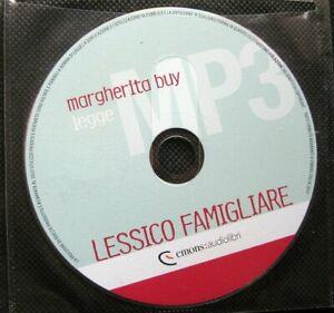 Audiolibro audio book cd MP3  LESSICO FAMIGLIARE - Natalia Ginzburg / usato