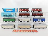 CF896-2# 10x Märklin H0/AC Güterwagen DB: 4627 + 4637 + Fordetc, Mängel+2x OVP