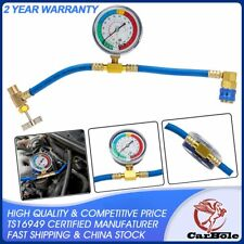 CarBole R-134a Gauge Recharge Measuring Hose Pipe System Refrigerant Charging
