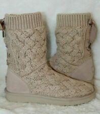 NEW UGG Women's ISLA Lace Up Sweater Boots IVORY CREAM US 7 10