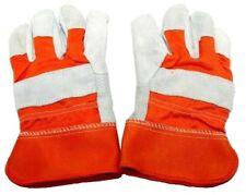 Brand New Unisex Large Work Gloves For Construction Heavy Duty Leather Rugged