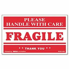 Universal Fragile Handle With Care Self-Adhesive Labels, 500 Labels (Unv308383)