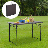 4ft Folding Camping Table Picnic Table Coffee Height Adjustable Garden Backyards