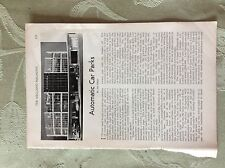 a1x ephemera 1950s article automatic car parks griggs rotaparks
