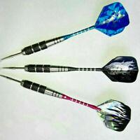 Nickel Plating Darts 22g Randome Color Steel Needle Tip Hard Dart Flights F K8L1