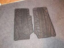 Fit For 07-17 Jeep Wrangler Unlimited 4 Door Rubber Slush Floor Mats All Weather
