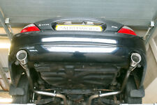 "Jaguar S Type 4.2 V8 Rear silencer delete pipes - 4"" Tail pipe style A"
