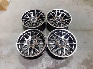 "19"" CSL Style Alloy Wheels Hyper Black - BMW DEEP CONCAVE E46 M3 E90 F10 E92 Z4M"
