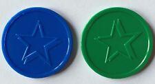 More details for plastic tokens embossed star - bag of 100 - home school, voting, reward,event