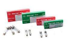 10x Feinsicherung Glassicherung T F 5x20 6,3x32 mm 0,1A-30A Keramiksicherung ✅