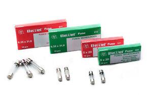 10x Feinsicherung Sicherung 5x20mm T200 mA//250V Glassicherung träge lose