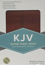Bible King James Version Super Giant Letters Brown LeatherTouch
