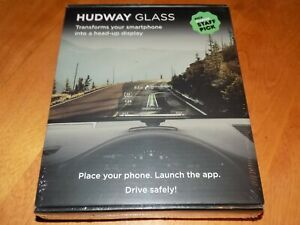HUDWAY GLASS Universal Heads-Up Display (HUD) HUD Smartphone Cat Accessory NEW