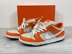 Nike Dunk Low Premium SB ORANGE BOX Safety Orange/White Cream 2016 UK9 US10