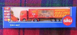 SIKU M87 1/87 red MAN Formula 1 F1 race team transporter (MIB) +plastic F1