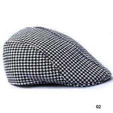 Mens Retro Baker Boy Peaked NewsBoy Outdoors Golf Hat Beret Flat Cap Unisex UK