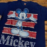 Vtg Mickey Unlimited Jerry Leigh Mens Mickey Drawing Single Stitch T-Shirt Sz XL