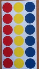 144 Large Coloured Sticky Labels Dots 19mm dot,spots,circles,round,stickers,code