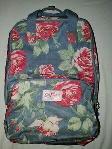 Cath Kidston Navy Floral Matt Oilcloth Large Backpack Laptop bag