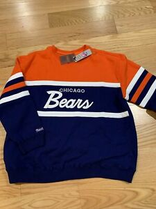 Mitchell And Ness Throwback NFL Chicago Bears Sweater 3XL BNwT Rare Cotton