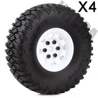 """1.55"""" Tire & Beadlock Metal Wheel for 1/10 RC D90 TF2 CC01 LC70 MST Axial 90069"""