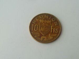 Vintage ! One pc 1964-10 francs France / Francs Reunion Island coin (#143-B)