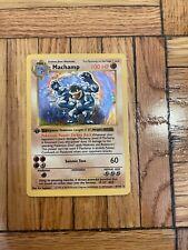 Machamp First (1st) Edition 8/102 Pokemon Base Shadowless Holofoil Card