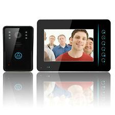 """2.4G 7"""" TFT LCD Touch Wireless Video Door Phone Doorbell Intercom IR Camera US"""
