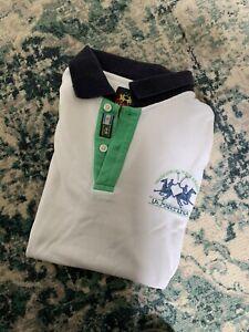 LA MARTINA Herren Polo Shirt M Weiß  - Gr. M