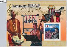 Bissau-Guinean Sheet Music Postal Stamps