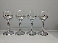 4 Clear Glass Cambridge Farberware Cordial Glasses 1 Chipped