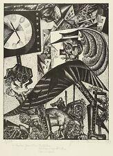 Hermann Naumann-Hermlin-tras dos vanos verano-litografía 1979