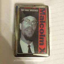 Retro MALCOLM X 2-Clip Cigarette Case Business Credit Card Holder
