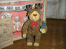 Boyds Bears Shoe Box Bear 2003 ~1E Rudy Reinbeary~ Bear In Reindeer Costume