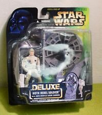 Collection 1 Hologram foil Green card 1996 Star Wars POTF Hoth Rebel Soldier with Survival Backpack and Blaster Rifle