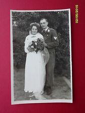 Original WW2 Photo German Luftwaffe Soldier & Wife Wedding