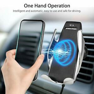 Qi Wireless Fast Car Charger Automatic Clamping Air Vent Mount Phone Holder