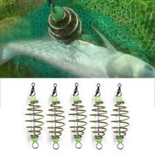 5 Pcs Wire Method Carp Fishing Feeder Swim Spring Feeder Lead Sinker 8cm