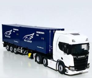 "Scania R highline CR20H,skeletal trailer+2x20ft container""Nyk""WSI truck models"