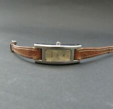 Vintage Ladies BURBERRY Rectangular Curved Tank Shaped Quartz Watch – Working