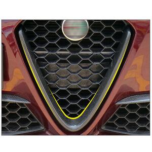 For 2016-2020 Alfa Romeo Giulia Real Carbon Fiber Accessories Front Bumper Trim